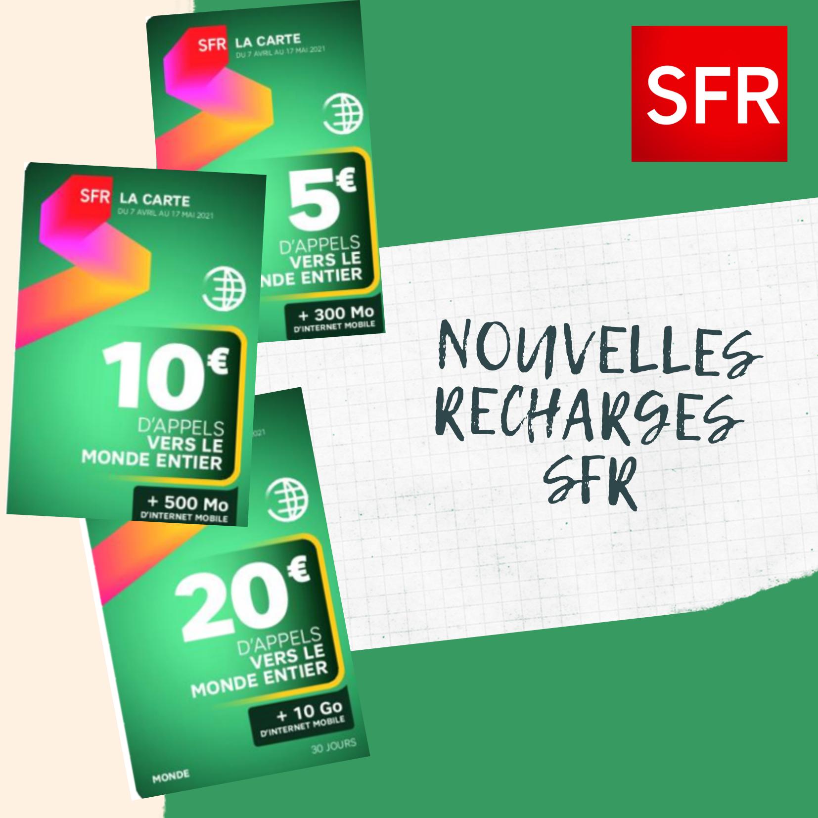 Nouveauté : SFR alimente ses recharges internationales en data
