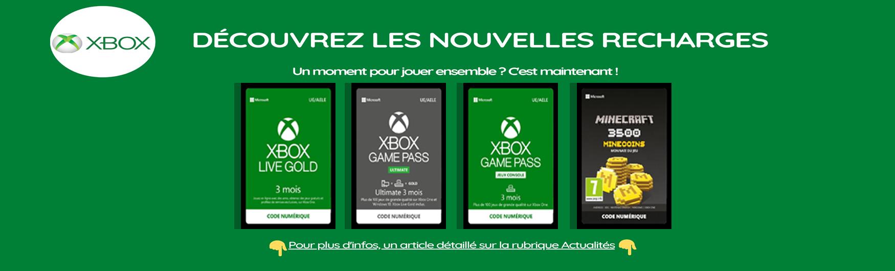 Recharges Xbox