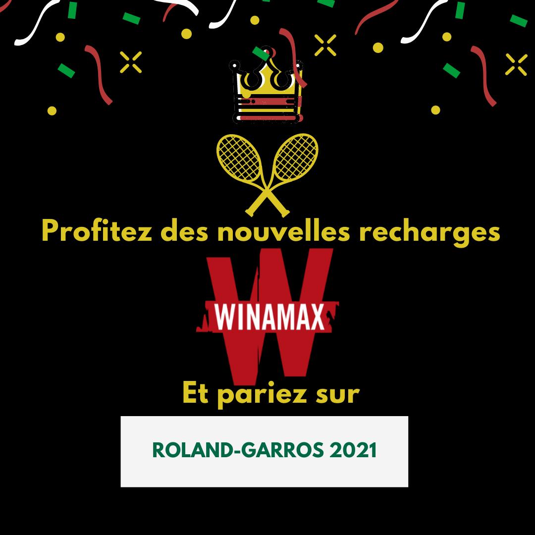 Winamax : Nouvelle occasion pour parier sur le tournoi de Roland-Garros 2021